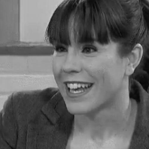 Bárbara Crespi de WWF en blanco y negro