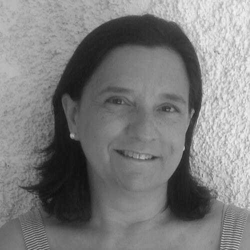 Teresa Pérez de Cruz Roja en blanco y negro
