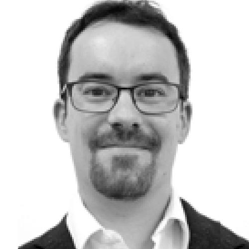 Alejandro López de Acción Contra el Hambre en blanco y negro