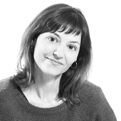 Patricia Prieto de Greenpeace en blanco y negro