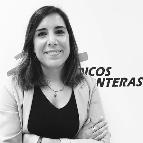 Maite Alzueta de Médicos Sin Fronteras en blanco y negro