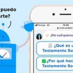 Imagen del funcionamiento del chatbot de ACNUR